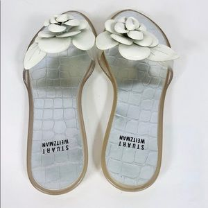 Stuart Weitzman Shoes - White Stuart Weitzman jelly flower sandals😍